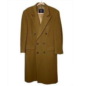 Burberry double breasted men's wool long pea coat